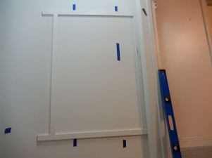 Frame of vinyl strips